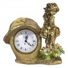 Часы Лесная фея, с хрустальными цветами CDA 6016 LM