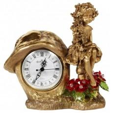 Часы Лесная фея, с хрустальными цветами CDA 6016 RED