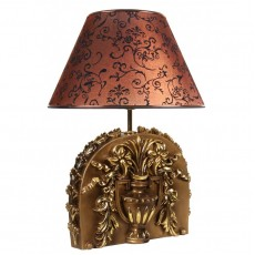 Настольная лампа Авангард, коричневый абажур МК 7033 BR