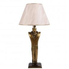 Настольная лампа Джентльмен, бежевый абажур МК 7022 BG