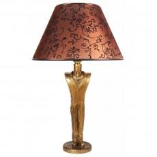 Настольная лампа Джентльмен, коричневый абажур МК 7022 BR