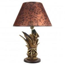 Настольная лампа Каллы сборный букет, коричневый абажур МК 7023 BR