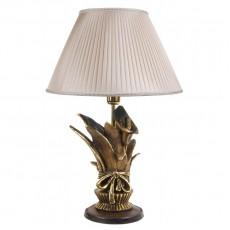 Настольная лампа Каллы сборный букет, шёлковый абажур МК 7023 SILK