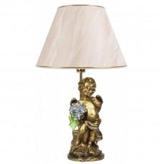 Светильник Ангел с голубыми цветами, абажур бежевый CDA 6003 LT BL BG