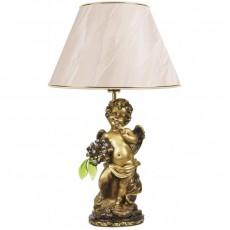 Светильник Ангел с янтарными цветами, абажур бежевый CDA 6003 GOLD BG