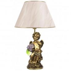 Светильник Ангел с сиреневыми цветами, абажур бежевый CDA 6003 VL BG