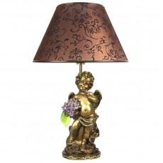 Светильник Ангел с сиреневыми цветами, абажур коричневый CDA 6003 VL BR