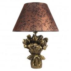 Светильник настольный Букет ирисов коричневый МК 7015 BR