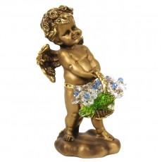 Ангел с корзиной хрустальных цветов CDA 6008 CR LB