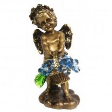 Ангел с корзиной хрустальных цветов CDA 6008 LT BL