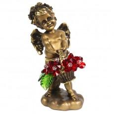 Ангел с корзиной хрустальных цветов CDA 6008 RED
