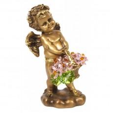 Ангел с корзиной хрустальных цветов CDA 6008 ROS
