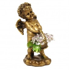 Ангел с корзиной хрустальных цветов CDA 6008 СR ROS