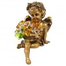 Ангел сидящий с хрустальными цветами CDA 6009 LT TOP