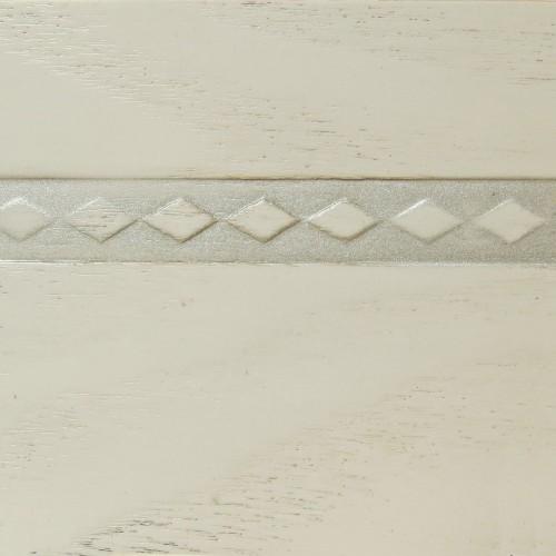 031 Эмаль Белый (фактурный шпон) Патина серебро