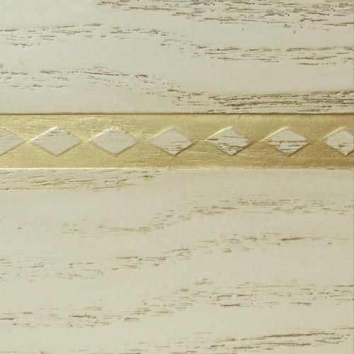 034 Эмаль Белый ясень (фактурный шпон) Патина золото