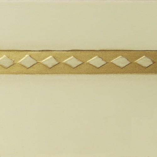 044 Эмаль Слоновая кость (гладкий шпон) Патина золото