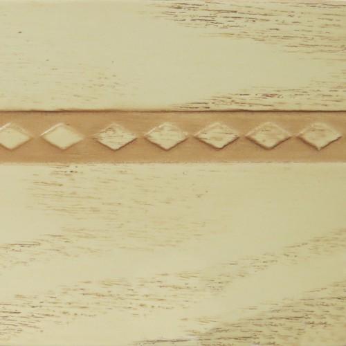 043 Эмаль Слоновая кость (фактурный шпон) Патина корич
