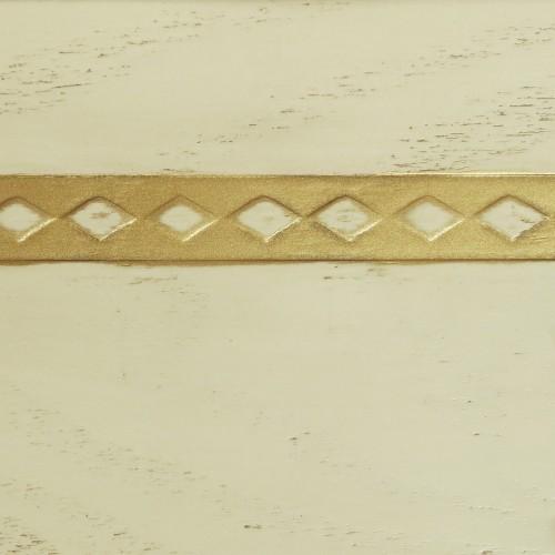042 Эмаль Слоновая кость (фактурный шпон) Патина золото